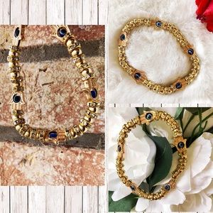Jewelry - LAST ONE 🔥🔥EVIL EYE HAMZA CRYSTAL BRACELET ✨🌸